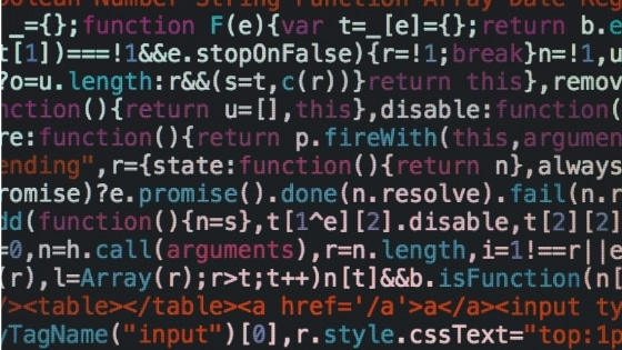 A bunch of code that needs to be minified.