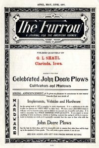 "The first edition from John Deere's ""The Furrow""."