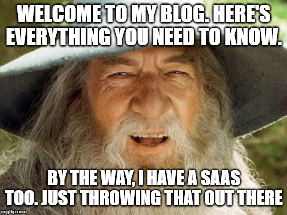 A meme of Gandalf pointing out the importance of information over sales.