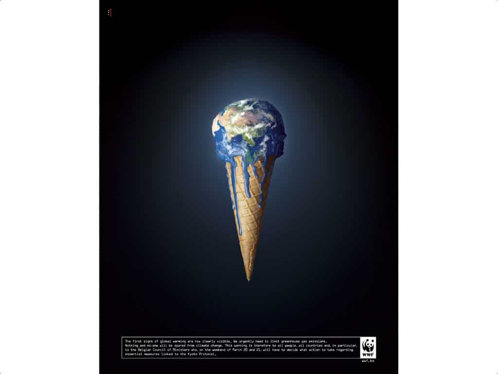 Example of a visceral image from WWF that emotionally connects with people